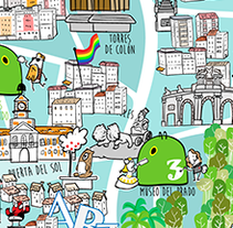 Recicla a la madrileña - Mapa de Madrid. A Illustration project by Miguel Martínez-Vilanova         - 30.11.2016