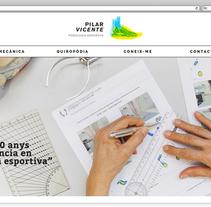Web para la podóloga Pilar Vicente. Un proyecto de Desarrollo Web de rseoaneb - 14-12-2016