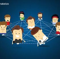 Maketzo - Ilustraciones Social Media. A Graphic Design project by Nicolás Focazzio         - 07.12.2016