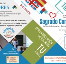 Díptico publicitario para Colegio concertado en Granada. A Br, ing, Identit, Graphic Design, Information Architecture&Information Design project by Esther Martínez Recuero - 10-02-2017