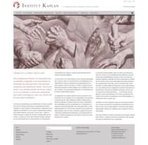 Web para Institut Kaplan. Un proyecto de Desarrollo Web de rseoaneb - 15-11-2014