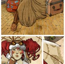 A la espera - Ilustración. Un proyecto de Ilustración de Ana Belén Vázquez Ostos         - 04.11.2015