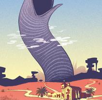 Desierto Encendido (Principia Magazine). Un proyecto de Ilustración de Luis Armand Villalba - 19-02-2017
