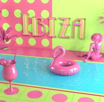 IBIZA. A Design, Illustration, Advertising, 3D, Art Direction, and Lighting Design project by Alice  - 24-02-2017