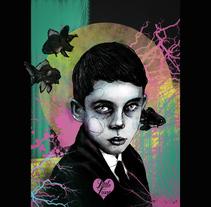 el chico  triste que tenia colores por dentro. Um projeto de Ilustração de raquelbarrantes - 27-02-2017