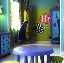 Interior Ikea CGI 3D. Un proyecto de 3D, Diseño de muebles y Diseño de interiores de Ivan C         - 06.03.2017