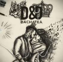 D&D BACHATEA - Sevilla 2017.. A Illustration, T, and pograph project by Andréss Art - 12-03-2017