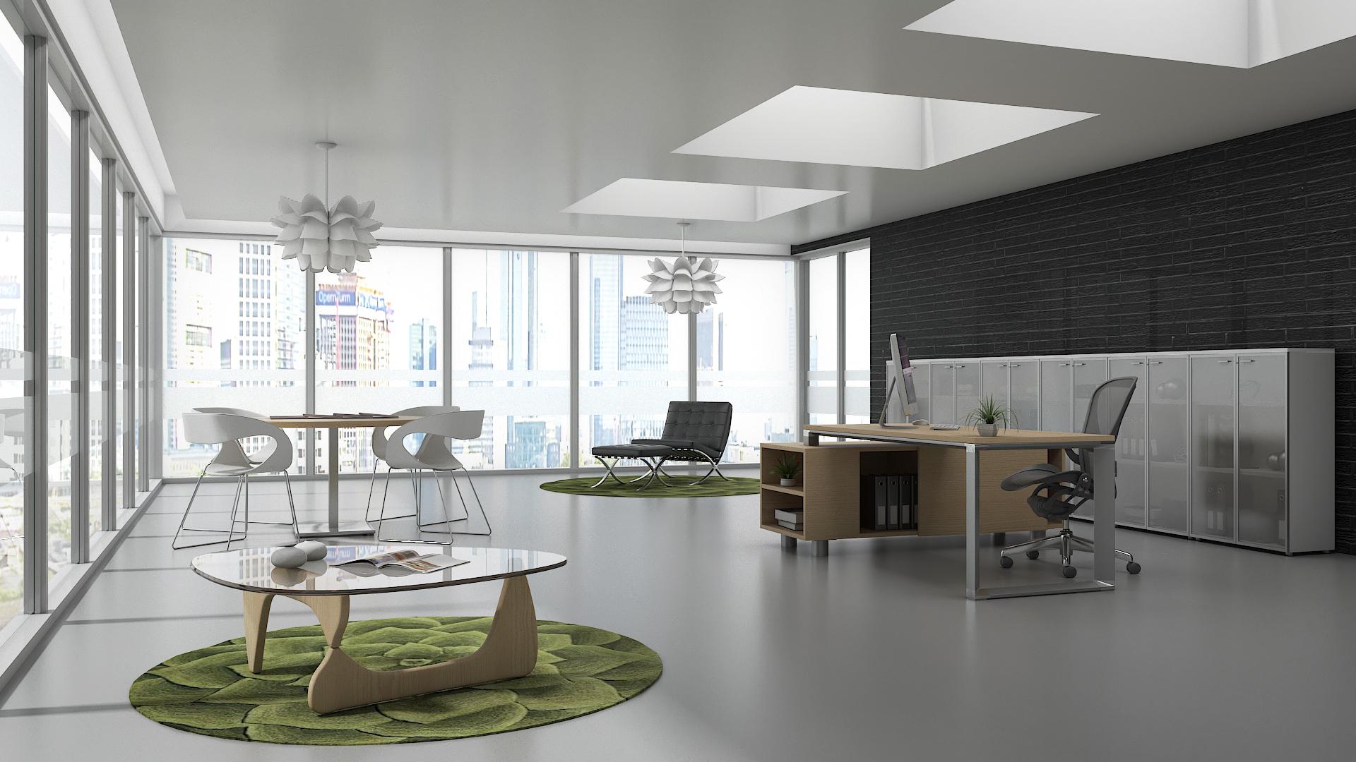 Dise o de oficina minimalista domestika for Disenos de interiores para oficinas