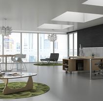 Diseño de Oficina Minimalista. Un proyecto de Arquitectura y Diseño de interiores de Gabriela Afonso Romero         - 16.03.2017