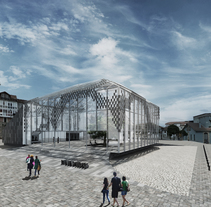 Infografías 3d para Concurso Centro Sociocultural en el Mercado de Abastos de Reinosa, Cantabria. A 3D, and Architecture project by Juan Pellejero Escobedo         - 01.05.2013