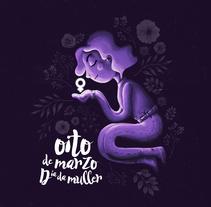 #oitodemarzo - Ilustración para el día de la mujer. Un proyecto de Ilustración de Sofía González Fondo - 20-03-2017