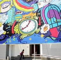 Instituto de Arte y Diseño Toulouse Lautrec - ioke + seimiek. A Illustration, Art Direction, Painting, and Street Art project by Fer         - 23.03.2017