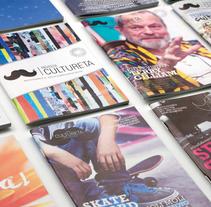 Revista Cultureta. Um projeto de Br, ing e Identidade e Design editorial de carmona croce         - 24.03.2017