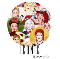 ICONIC: Retratos ilustrados personalizados de iconos famosos.. Um projeto de Ilustração de José Pérez Gandía         - 24.03.2017