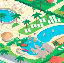 Mapa vector Cambrils Park y Sangulí Salou Resort. A Illustration, and Vector illustration project by Bronco Studio         - 03.11.2016