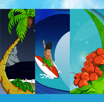 Arenita Playita. Un proyecto de Diseño, Ilustración, Dirección de arte y Diseño de personajes de Ronald Ramirez         - 20.04.2016