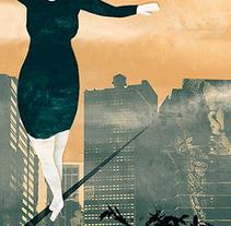 """Ilustración para relato """"Vaqueros y princesas """". A Illustration project by Elvira Inés Lorenzo Lorenzo         - 24.04.2017"""