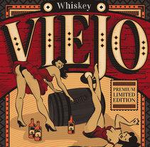 Mi Proyecto del curso: Técnicas de grabado digital - Whiskey Viejo. A Graphic Design project by Bruno Davoli         - 24.04.2017