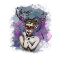 Hada del bosque. Um projeto de Ilustração e Retoque digital de Yumir Canelones         - 26.04.2017