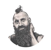 Diego Aput - Bajista de CUYOMAN. Un proyecto de Ilustración de Juan Olguín         - 28.04.2017