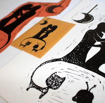 Felinos celestes (libro ilustrado). Um projeto de Ilustração e Design editorial de Lucia Tébar Trujillo         - 29.04.2017