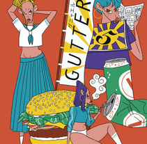 Cartel expo GUTTER Fest.. A Illustration project by genie espinosa - 08-04-2017