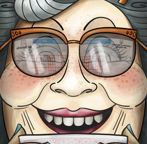 """Ilustración """"Abuela Quiniela"""" ... 70 años esperando.. Un proyecto de Ilustración de Ángela Búa         - 01.03.2017"""