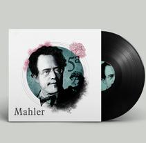 Retratos para clásica. Mahler. Un proyecto de Ilustración, Diseño gráfico y Retoque digital de Ana Sánchez Tejedor - 15-05-2017