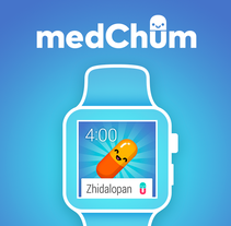 medChum App Concept. A Illustration, UI / UX, Br, ing, Identit&Interactive Design project by Jimena Catalina Gayo         - 01.09.2015