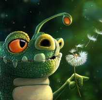 sweet lizard . A Illustration, Animation, Character Design, and Character animation project by eduardo berazaluce         - 31.05.2017