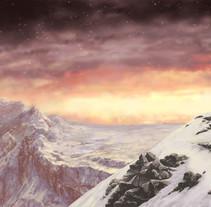Camino en la nieve. Um projeto de Pintura de eduherbosa         - 07.06.2017