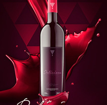 Packing : Delicious - Wine Rose. A Design, Advertising, Graphic Design, Packaging, and Digital retouching project by Gustavo Chourio         - 10.06.2017
