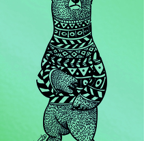 BEAR LOVE. A Design, Illustration, and Vector illustration project by Beatriz  Segovia Martín - 23-06-2017