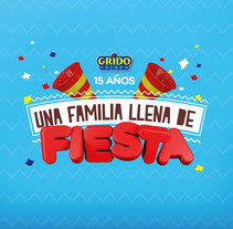 Una familia llena de fiesta!. A Advertising, 3D, Br, ing, Identit, and Graphic Design project by Barbara Correa Hormigo - 10-04-2016