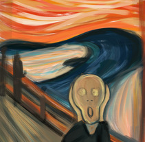 The Scream. A Illustration project by Beatriz Carcelén         - 26.06.2017
