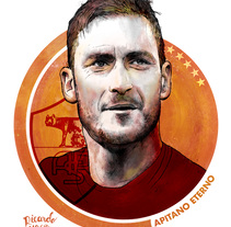Francesco Totti . A Design&Illustration project by Ricardo Macía Lalinde - 27-06-2017