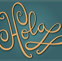 Le doy la bienvenida a mi vida al Lettering. A Design, T, pograph, and Lettering project by Manuela  - 29-06-2017