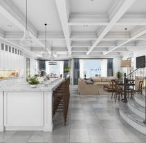 Casa de condominio 3D para familias múltiples en Beach Side Animation Ideas de diseño. A Design, 3D, Animation, Architecture, Interior Architecture, Interior Design, Post-Production, and Video project by Yantram Studio  - 06-07-2017
