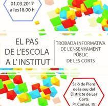 Cartel de Ciclo de Conferencias - Consell Escolar Districte de les Corts. Un proyecto de Diseño de Guillem  Bellet i Navarro         - 22.02.2017