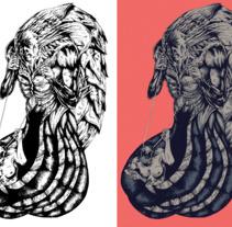 Ilustración - El gordo de los tentáculos.. Un proyecto de Diseño, Ilustración, Diseño de personajes, Bellas Artes, Comic y Producción de Carlos Mercé Vila         - 15.07.2017