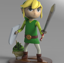 toon link. A 3D, Character Design, To, and Design project by Victor Morcillo Luque         - 20.07.2017