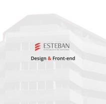 Esteban - especialista en ventanas  -- proyecto de rediseño de marca y sitio institucional. Um projeto de UI / UX, Design interativo e Web design de Leandro  Marsico         - 04.08.2017