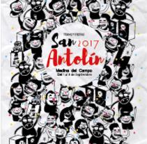 Cartel para las ferias y fiestas de San Antolín 2017. Un proyecto de Ilustración y Diseño gráfico de Charlie          - 27.07.2017