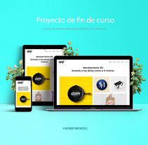 Diseño de mi portafolio web (Proyecto final de curso). A Web Development project by Kobby Mendez - 12-08-2017