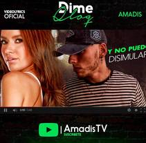 Videolyrics: Amadis - Dime Qlq. A Film, Video, TV, Graphic Design, Video, and Street Art project by Yermain  Garcia         - 05.07.2017