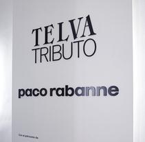 Exposición 'Telva Tributo. Paco Rabanne'. Um projeto de Design, Direção de arte e Design de cenários de MÜD Design         - 09.06.2017