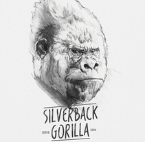 SILVERBACK GORILLA. A Illustration project by miguel sastre - 30-08-2017