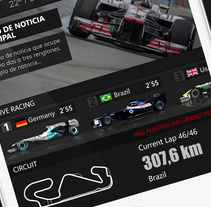F1 Live 24 App for iphone , ipad and android. A Graphic Design project by Iván Prieto Garrido         - 04.09.2017