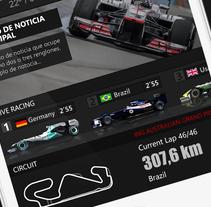 F1 Live 24 App for iphone , ipad and android. Un proyecto de Diseño gráfico de Iván Prieto Garrido         - 04.09.2017
