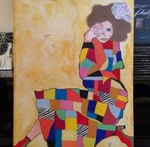 Pincel y mano : explosión de luz y color . A Design, Illustration, Fine Art, Painting, and Product Design project by Elena OP         - 09.09.2017